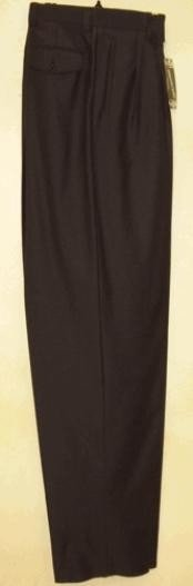 rise big leg slacks  Navy wide leg dress pants Pleated