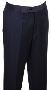 Mens Dress Pants Navy without pleat flat front