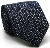 Premium Double Diamond Ties Navy
