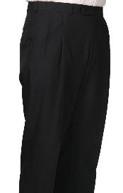 Dacron Polyester Somerset Double-Pleated Slacks /Dress Pants Trouser Navy