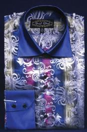 Designed Navy Club Clubbing Clubwear Shirts