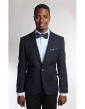 Mens Fashion Stage Blazer ~ Sport coat Navy