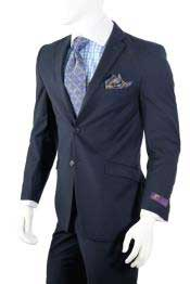 Dark Navy Slim Fit Cheap Priced Business Suits Clearance Sale Vent