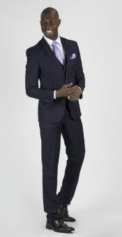 Navy Slim Fit Vent