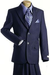 Button Navy Pin Boys Designer Suit