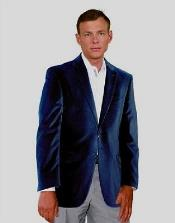 Velvet Blazer Sport Jacket For Men Navy