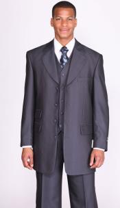 Navy Herringbone Tweed Vested