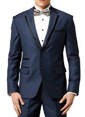 Dark Navy ~ Midnight blue Fashion Designer Wedding Groom Tuxedo Dinner