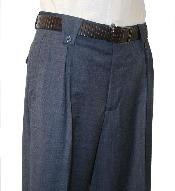Velenti Brand Mens Navy Wide Leg Pants unhemmed unfinished bottom