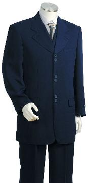 3 Piece Fashion Dark Navy Zoot Suit