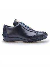 Paulo Authentic Authentic Genuine Skin Italian Brand Genuine Night Blue Ostrich and