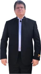 Alberto Nardoni Mandarin Banded No Collar