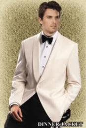 : $495 Giorgio Mens Off-White Dinner Jacket On Sale