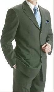 Olive Green Super 150 Wool 3 Buttons Mens premier quality italian