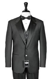 Mens 1 Button Super 150s Notch Tuxedo