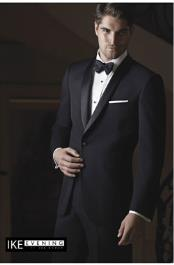 Braydon Black Ike Behar Tuxedo Jacket Ike Evening by Ike Behar Tuxedo