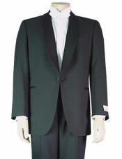 1 Button Shawl Collar  Jacket Single Button Fashion Tuxedo For Men