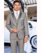 Mens Light Gray Slim Fit Tuxedo