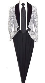 Mens Floral Lace Designed Shawl Lapel Paisley Sport Coat Blazer Dinner Jacket