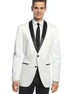 1 or 2 Buttons White And Black Lapel Shawl Collar Blazer Dinner Jacket