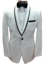 One Button White Tuxedo