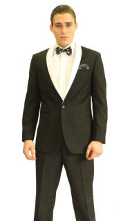 Black Shawl Fashion Tuxedo For Men