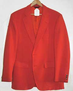 Mans Bright Orange 1970s Sport Coat