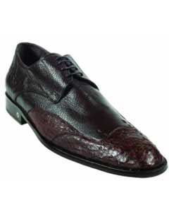 Mens Ostrich Full Quill Skin Brown Dress Shoe