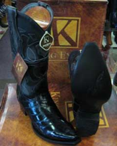 Genuine Ostrich Leg King Exotic Western Cowboy Cognac Boot