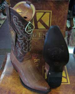 Mens Genuine Ostrich Leg King Exotic Boots Cowboy Style By los altos