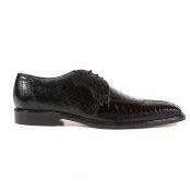 Ostrich Black Oxfords Belvedere
