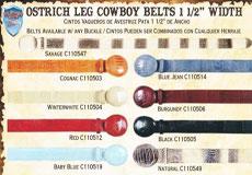Leg Western Cowboy Belt