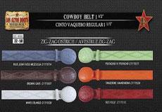 Ostrich Zig-Zag Mens Cowboy Belt 15 Width