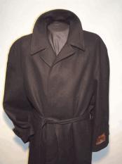 Overcoat Long Wool Black