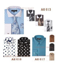 Fashion Cotton Polka Dots Design Dress Shirt Multi-Color