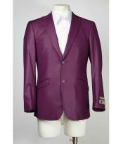 Button Slim Fit Mens Purple Cheap Priced Designer Fashion Dress Casual