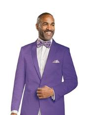 Mens 1 Button Tone on Tone Diamond Design Shawl Lapel Blazer Jacket Purple