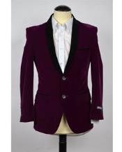 Velvet Mens blazer Purple