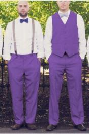 Any Color Matching Vest & Pants Set Plus Any Color Shirt & Tie or Bow tie &