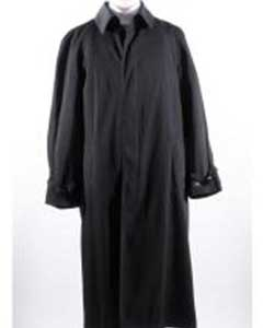 Long Full Length Rain Coat Black