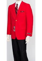 Pacelli Mens Classic Red Cheap Priced Blazer Jacket For Men Jacket Blair