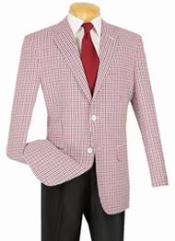 Classic Fit Sportcoat Red-Black
