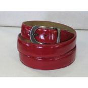 Genuine Authentic Red Eel Belt