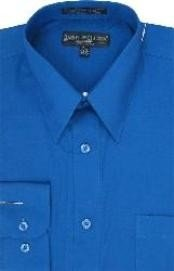 Royal Blue Mens Dress Cheap Priced Shirt Online Sale