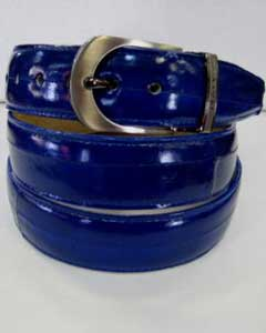 Genuine Authentic Royal Blue Eel Belt