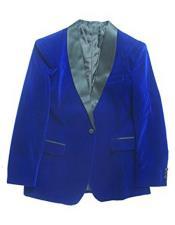 Blue Velvet Blazer Dinner Jacket Tuxedo
