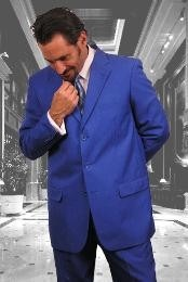 Mens Royal Blue With Nice Cut Smooth Soft Fabric