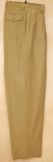 rise big leg slacks  greenish color with some hint of