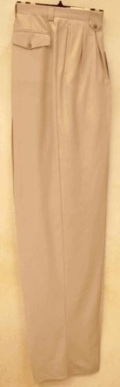 rise big leg slacks  Sand Wide Leg Dress Pants Pleated
