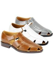 Mens Sandal Available in Black Gray Ivory Natural Navy Tan White Colors